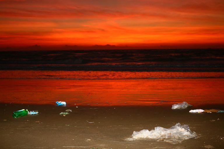 ocean, trash, beach